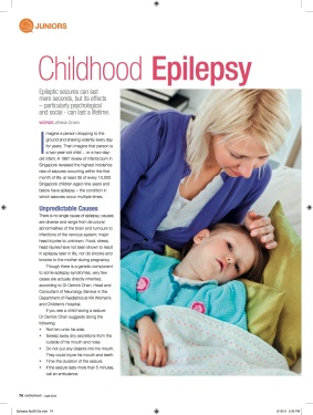 Motherhood Magazine Apr 2012 Childhood Epilepsy