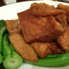 Classic Chinese cuisine at its very best: sauteed fried tofu with vegetables