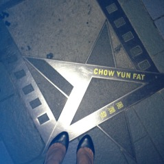 Obligatory photo at HK's avenue of the stars!