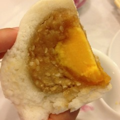This egg dumpling wasn't too bad, but so dense! Egg yolk with a dry, throat-scratching sesame paste.