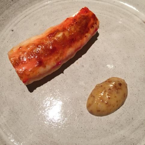 King crab and almost burnt cream, Fäviken Magasinet, Sweden