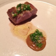 Veal with fermented, roasted and finely ground lupin, Fäviken Magasinet, Sweden