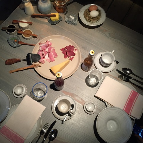 Breakfast table, Fäviken Magasinet, Sweden