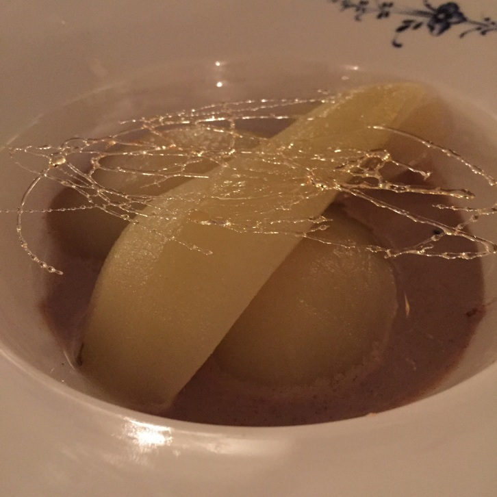 Poached Conference pear (Restaurant Greetje, Amsterdam)