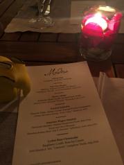 Menu, Madera Restaurant, Menlo Park